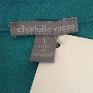 Charlotte Russe Vee-necked Tailored Blouse